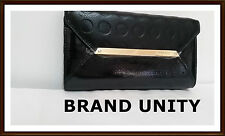 Mimco Leather ORIGAMI Wallet Purse BNWT Black $249 Still in Packs