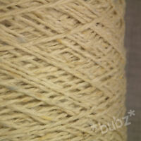 DONEGAL TWEED WOOL ANGORA YARN 500g CONE 10 BALLS DOUBLE KNITTING ARAN CREAM NEP