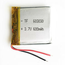 3.7V 600mAh Battery 603030 Lipo Polymer rechargeable For MID MP3 GPS bluetooth
