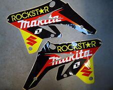 Suzuki Rmz250 2007-2009 Rockstar Makita Radiador Sudario Gráfico Set rm1220