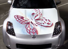 3D BUTTERFLY Full Color Graphics Adhesive Vinyl Sticker Fit any Car Hood #157