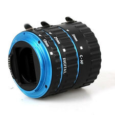 Auto Focus Macro Extension Tube for CANON EOS EF-S 70D 7D 6D 5D Mark III Blue
