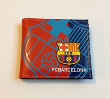 NEW FC Barcelona Soccer 2016 Messi Neymar Suarez Wallet Leather US SELLER!