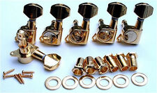 Guitar Parts WILKINSON EZ E-Z-LOK - 6 In Line - TUNERS SET - Left - GOLD