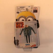 Despicable ME 2 Gru 3D Toy Figure 2pc Fast Shipping - Slight Damage