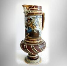 Mettlach large beer pitcher with ornate designs - 1895 - FREE SHIPPING