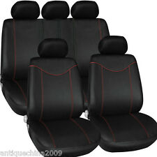 1 Set Interior Accessorie Universal Car Auto Seat Cover Cushion Black + Red