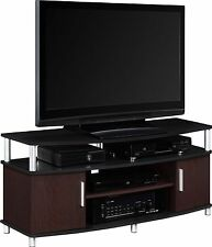 "TV Stand Console Entertainment Media Center Storage Furniture 50"" - BLACK/CHERRY"