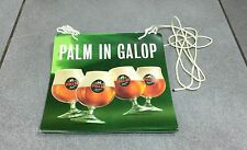 BANDEROLE OFFICIELLE BIERE BELGE BEER BIER CHEVAL PALM SPECIALE IN GALOP RARE