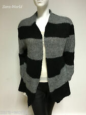 Zara knitwear black and grey strip cardigan long sleeves knitwear Medium bw47