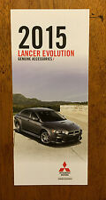 2015 Lancer Evolution Genuine Accessories brochure pamphlet catalog