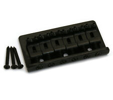 Black Fixed Guitar Bridge for Hardtail Fender Stratocaster/Strat® SB-0100-003