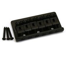 Black Fixed Guitar Bridge for Hardtail Fender Stratocaster/Strat® SB-0100-003