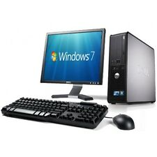 "Dell COMPLETO SISTEMA COMPLETO DESKTOP TOWER PC Set WIFI Fast & Computer 17"" LCD TFT A"