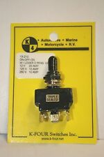 K-FOUR [K-4] ON-OFF-ON TRIPLE SEALED SWITCH-12VDC-20A (13-210)