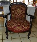 Karpen Mahogany Carved Parlor Chair / Armchair (AC158)