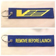Cadillac CTS-V ATS-V V Sport Keychain Remote Fob REMOVE BEFORE LAUNCH 2 Sid BLUE