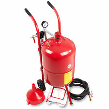 37 LITRE 10 GALLON GARAGE WORKSHOP COMPACT AIR PNEUMATIC SAND GRIT BLASTER KIT