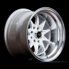 NEW JNC 003 WHEELS 15X8 4X100/4x114.3 +0 OFFSET WHITE SET OF 4 RIMS