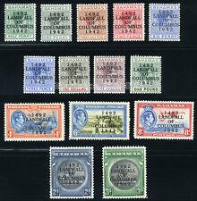 BAHAMAS 1942 SG 162-175a SC 116-129 OG MINT * COMPLETE SET 14 STAMP £80/$126