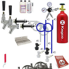 Kegco Ultimate 2-Tap Ball Lock Kegerator Conversion Kit w/5 lb. CO2 Tank