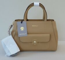 Modalu Almond Tan Small Tote Bag with X Body Strap - 'Verity' - RRP £199 - NEW