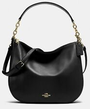 NWT Coach 37755 Chelsea Hobo 32 Shoulder Handbag in Black Calf Leather $350