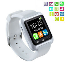 Neuf Blanc Smart Bluetooth 3.0 Watch Android Montre Tactile Connectée Message