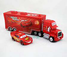 2-Pack  Disney Pixar Cars1 Lightning McQueen&Mack Superliner Truck Toy Car Set