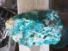 gem silica chrysocolla rough