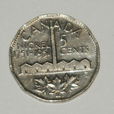 1751 - 1951 Commemorative.  5 Cent Coin Pure Nickel 12 Sided 8,329,321 Mintage