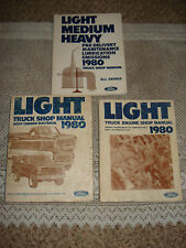 1980 FORD TRUCK BRONCO SHOP MANUAL SET ORIGINAL SERVICE BOOKS F-SERIES