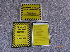 6 x Fake Joke Prank Parking Tickets with 6 Genuine Penalty Charge Envelopes