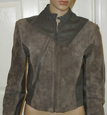 Wilsons Genuine Leather & Suede Gray Jacket Size 8