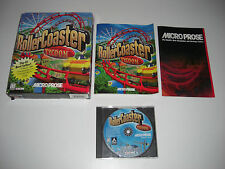 Rollercoaster Tycoon 1 PC CD ROM noi montagne russe-ORIGINALE BIG BOX