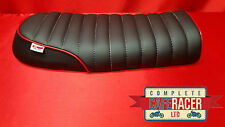 bs23 BRAT / SCRAMBLER STYLE CAFE RACER SEAT FINISHED IN BLACK LEATHERETTE NEW