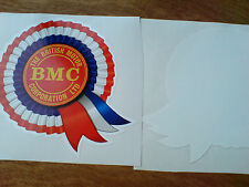 BMC Rosette Classic Retro Car WINDOW  Decal Sticker 1 off 80mm