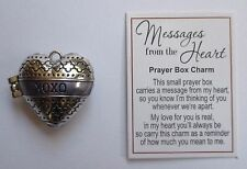 p xoxo Hugs Kisses love MESSAGES FROM THE HEART Prayer Box Charm Ganz