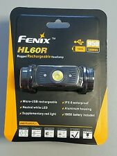 Fenix HL60R Cree LED 950 Lumen USB Rechargeable Headlamp Neutral White Headlight