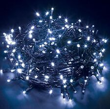 White 400 LED Chaser String Fairy Lights Indoor Outdoor Xmas Christmas Party