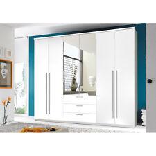 NIRUMA - Armadio con specchio, bianco d'imitazione, ca. 270x225x59cm