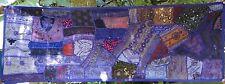 Tenture indienne violette Dessus de table Tapis mural Patchwork fait main Inde#5