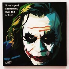 The Joker canvas quotes wall decals photo painting framed pop art poster