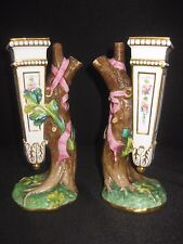 Stunning Pair of Antique Minton Porcelain Vases Dated 1868
