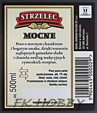 Poland Brewery Jędrzejów Piwo Strzelec Beer Label Bieretikett Cerveza jek6