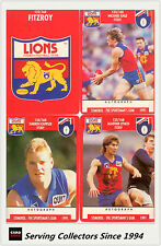 1991 Stimorol AFL Trading Cards Club Team Set Fitzroy (11) -- Mint!