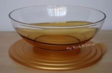 Tupperware  Eleganzia Sheerly Elegant Deluxe Acrylic Bowl 1.5 L Gold Color  New