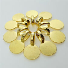 12885 50PC Alloy 10mm Round Glue on Bails Setting Bail for Necklace Pendant Loop
