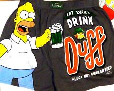NEW The Simpsons Men's Boxers Shorts Underwear Homer St Patricks Day Duff Beer!