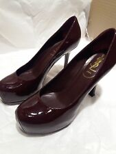 YSL Yves Saint Laurent PLUM Patent Stiletto Shoes Size EU 36.5 (UK 3.5)